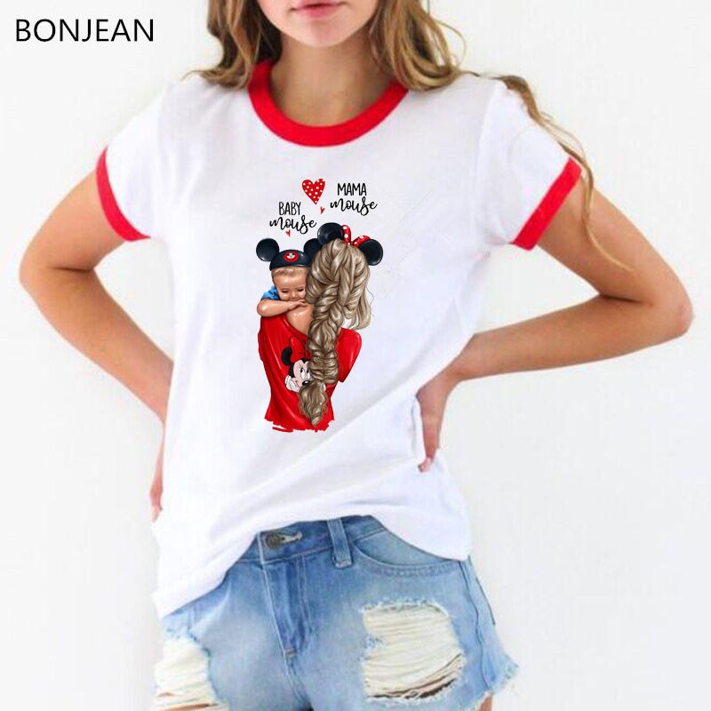 Love T-shirts for Women Mom and Duaghter White T-shirt Summer 2019