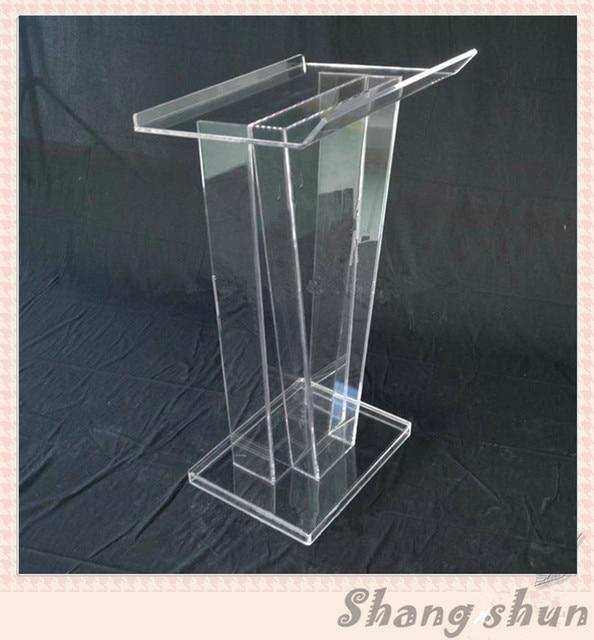 Clear rostrum acrylic podium pulpit lectern speech pulpit design