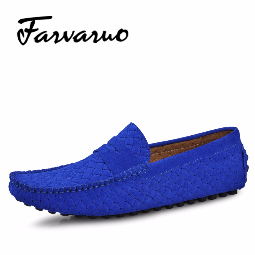 Farvarwo Brand Fashion Summer Style Soft Moccasins Men Loafers High Quality Genuine Leather Shoes Men Flats Gommino Driving Shoe silicone protective case cover for xbox one controller red