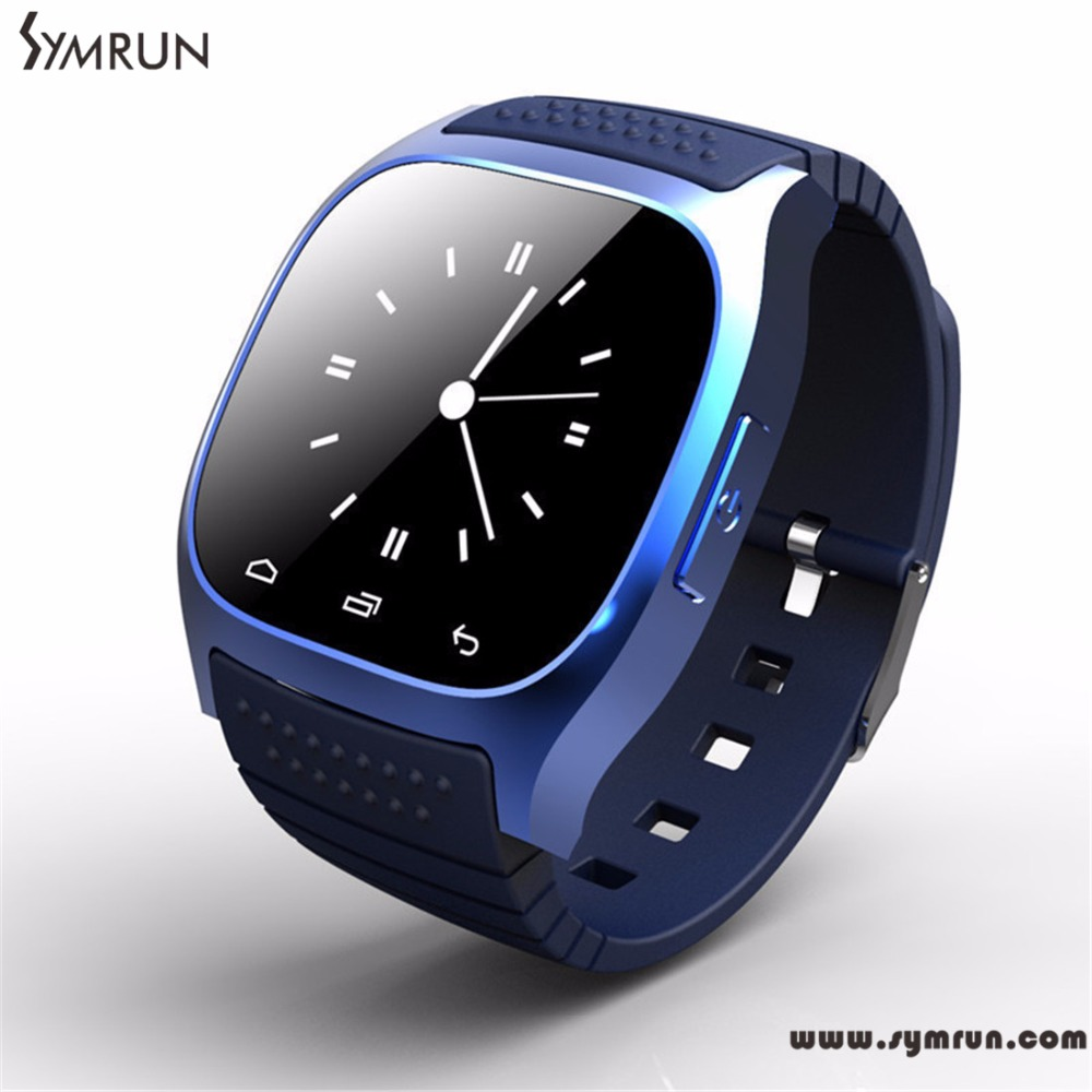 Symrun M26 Smartwatch 2017 Bluetooth Smart Watch with LED Display Dial Alarm Music Player Pedometer for