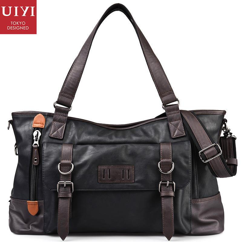 UIYI CLASSICAL Brand Design Handbag Men PU Leather Satchel Sling Bag Zipper Tote Shoulder Messenger Bags Male Business 150002901