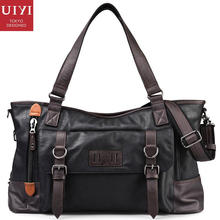 UIYI CLASSICAL Brand Design Handbag Men PU Leather Satchel Sling Bag Zipper Tote Shoulder Messenger Bags