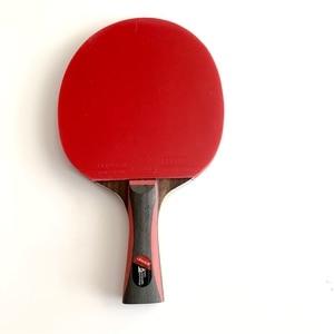 Image 5 - Lemuria Professional Carbon Fiber Table Tennis Racket Double Face Pimples in Rubber 2.15MM Sponge FL Or CS Handle Ping Pong Bat