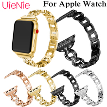 luxury crystal band For Apple Watch 40mm 44mm 38mm 42mm smart watch wrist strap for Apple Watch series 4 3 2 1 iWatch bracelet 42mm 38mm for apple watch s3 series 3