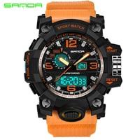 Top Luxury Brand Sanda Men Sport Watches Men S Quartz LED Analog Clock Man Military Waterproof