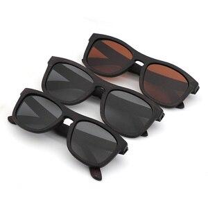Image 3 - Retro uomini donne occhiali da sole polarizzati Nero Per Bambini in legno Coppie occhiali da sole fatti a mano UV400 Con scatola di legno di bambù