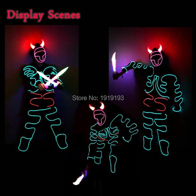 Marke Design Leuchten EL Draht Bull Monster Anzug Fluoreszierende ...