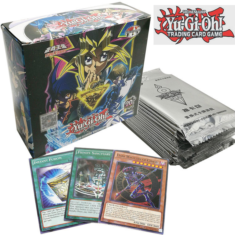 Hot 38/240 Pcs Game YGO YuGiOh Playing Card Cartoon Cards Yugioh Gaming Card Japan Boy Girls Yu-Gi-Oh Cards Collection Toys Gift
