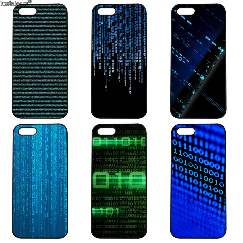 Computer Digital Code Mobile Phone Cases Hard PC Cover Fitted for iphone 8 7 6 6S Plus X 5S 5C 5 SE 4 4S iPod Touch 4 5 6 Shell