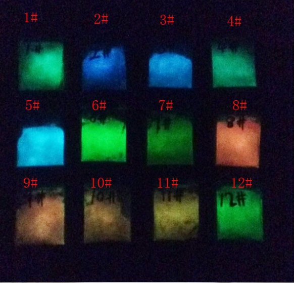 Mixtos 6 colores polvo luminoso, pigmento fosforescente polvo, polvo ...