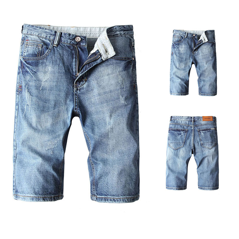 2019 Summer New Men Jeans Shorts Ripped Denim Street Youth Casual Beach Jeans,New Pants