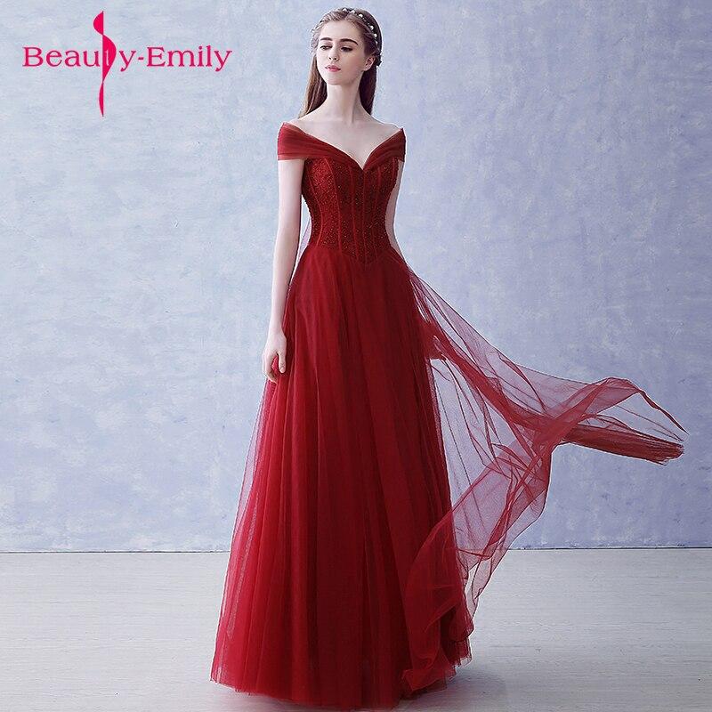 Beauty Emily Lovely Formal Dress Robe De Soiree Burgundy Long ...