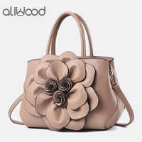 aliwood Fashion Women's Bag Rose Flower Handbags Ladies Shoulder Bags High Quality Female PU Leather Crossbody Bags Tote Bolsas