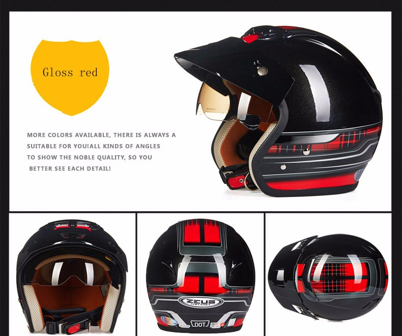 meio capacete retro moto casco scooter rosto