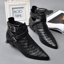 Модные женские ботинки в стиле панк; Женские однотонные ботильоны; повседневные ботинки в британском стиле на плоской подошве с пряжкой; сезон весна-осень; ботинки из натуральной кожи