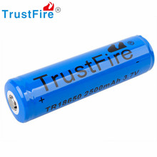 2pcs/lot 100% Original TrustFire 18650 Battery Li-ion 3.7V 2500mAh 18650 Rechargeable Battery Flashlight Battery Torch Battery