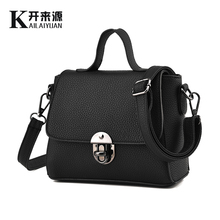 KLY 100% Genuine leather Women handbags 2016 New tide bag lady small fresh Fashion Shoulder Handbag Crossbody Bag