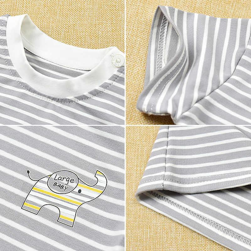 ילדה חולצה בני חולצת טי תינוק ילדים T חולצה למעלה ילדים פעוט קיץ טי כתום קריצה חיוך פנים כותנה פסים 3 M כדי 5 יה