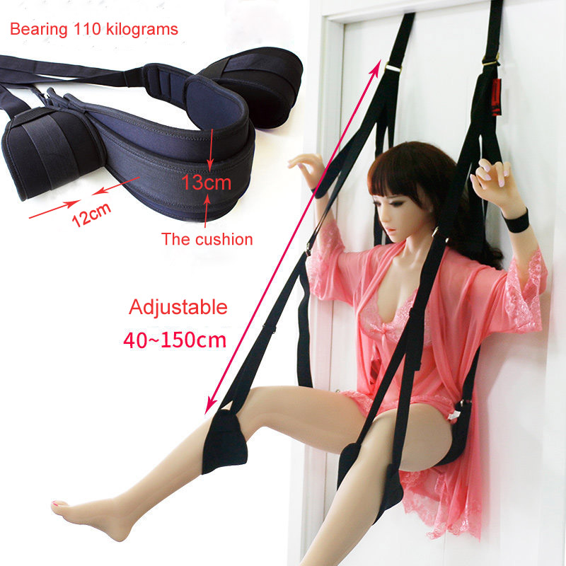 Sex Erotic Toys shop tool for Couples Sex Swing Soft Sex Furniture Fetish Bandage Love Adult game Chairs Hanging Door Swing(China)