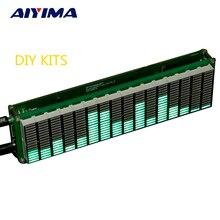 AIYIMA 16 مستوى LED الموسيقى الطيف الضوئي مؤشر مكبر للصوت مجلس أخضر اللون سرعة قابل للتعديل مع وضع AGC عدد اصنعها بنفسك