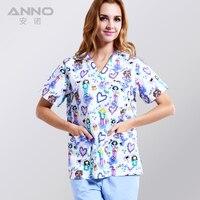 Medical Clothing Matching Unisex Women Men Comfortable And Breathable Natural Uniformes Hospital Nursing Scurbs Set