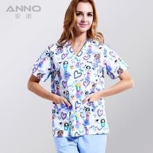 Медицинска одјећа одговарајући унисек жене / мушкарци удобне и прозрачне природне униформе болница сестра сцурбс сет