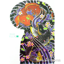 2016 NUEVA 24×32 cm Carpa Carpa Roja y negro Fresco Brazo Tatuaje Temporal Body Art Tattoo impermeable Populares pegatinas
