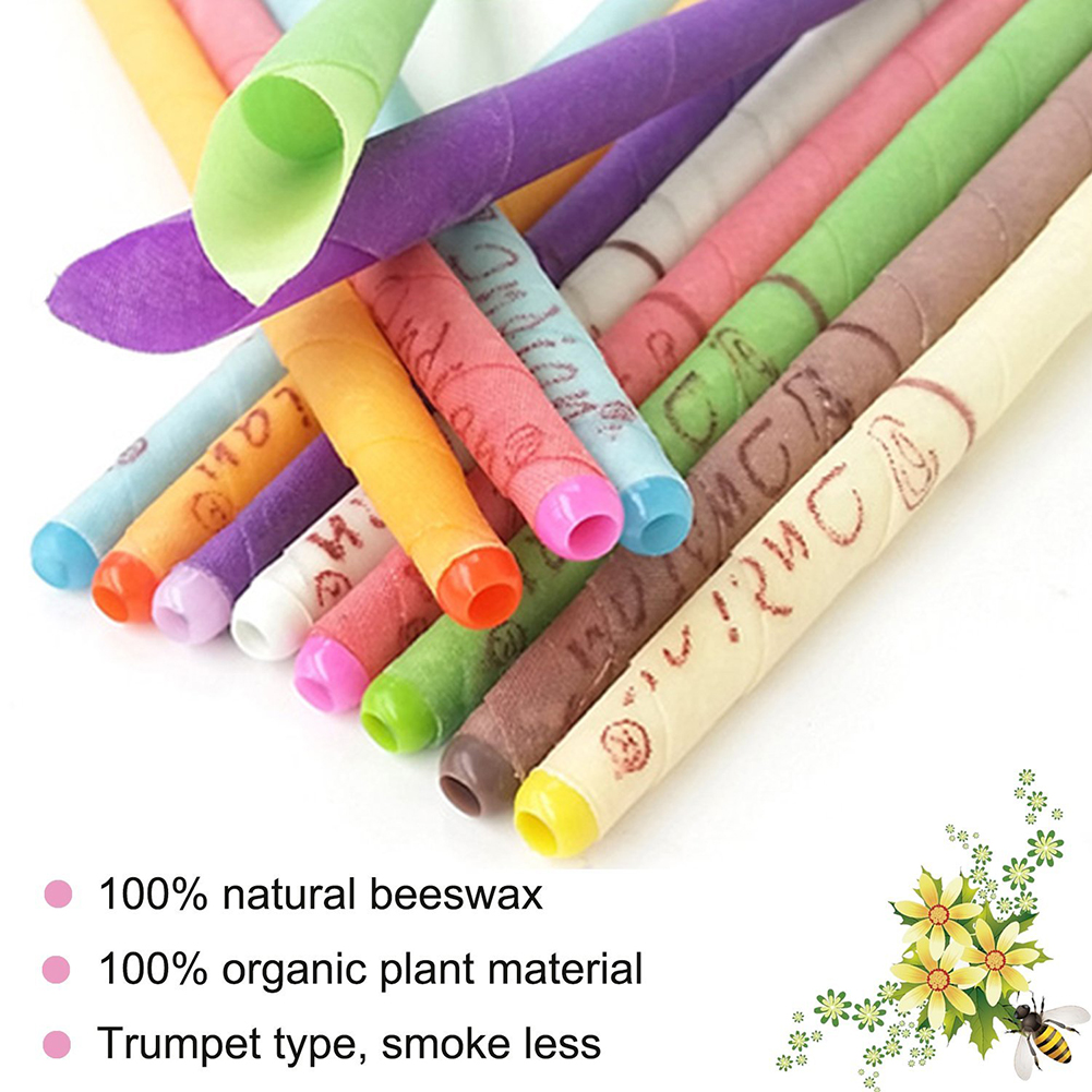 2Pcs/Set Ear Candle Earwax Candles Hollow Blend Cones Care Healthy Beeswax Ear Nose Dust Cleaning Natural Aromatherapy