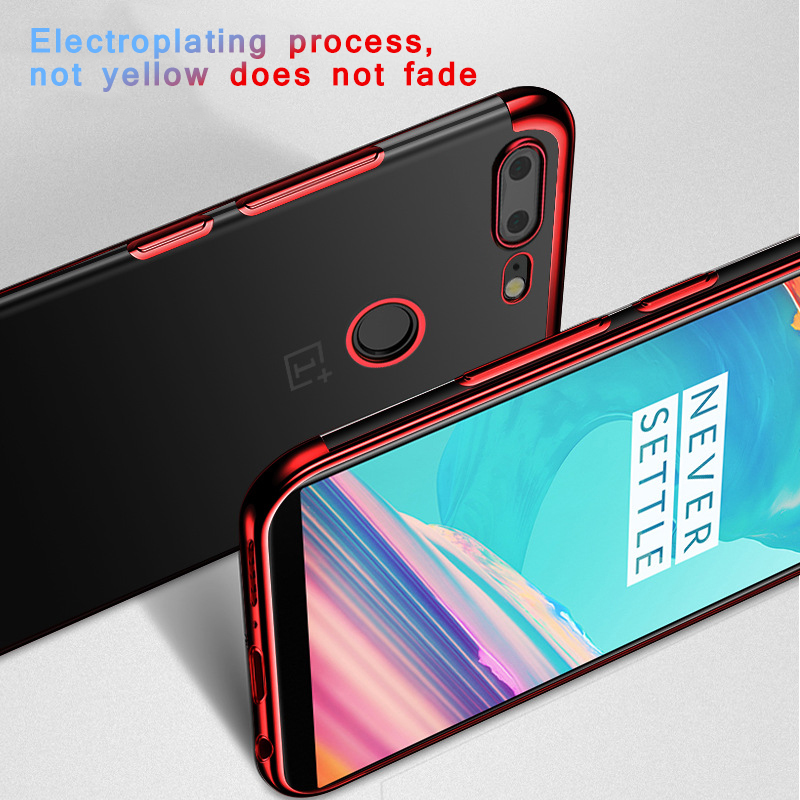 Phone Cases For Oneplus 6 5t A5010 Luxury Ultra-Thin Soft TPU Phone Cover For Oneplus 6 5 A5000 One Plus5 Phone Bags