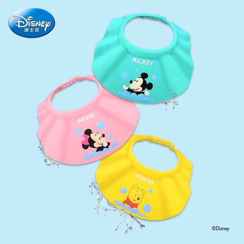 Disney Adjustable Baby Shampoo Cap Cartoon Shower Hat Wash Hair Shield Shower Shield Hat Baby Care Children Bath Head Hats