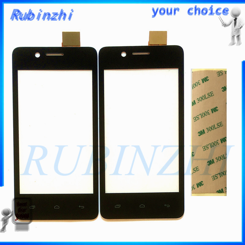RUBINZHI With Tape Mobile Phone <font><b>Touch</b></font> Screen Panel Digitizer Sensor For <font><b>Micromax</b></font> Bolt <font><b>Q402</b></font> Sensor Touchscreen Front Glass Lens image