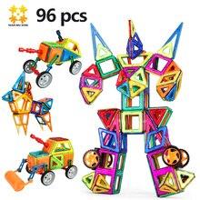 Mediun Размеры 96 шт. Магнитная Блоки игрушка с колесо обозрения/Самолет 2017 развивающие Magnetics Building Block Набор для детей