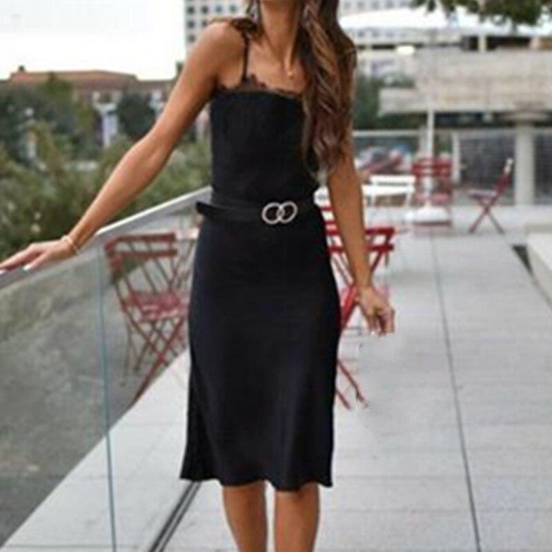New Summer Dress Casua Womens Holiday Sleeveless Pencil Sundress Ladies Summer Beach Casual Party Dress W3