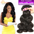 "7A Brazilian Virgin Hair Body Wave 4pcs 6""-30' Brazilian Body Wave Mink Brazillian Hair Weave Bundles Cheap Human Hair Extension"