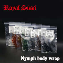 цена на 7colors/set nymph body wrap 1/8'' elastic &flex scud back/ synthetic fly tying material for stonefly &dragonfly nymph thin skin