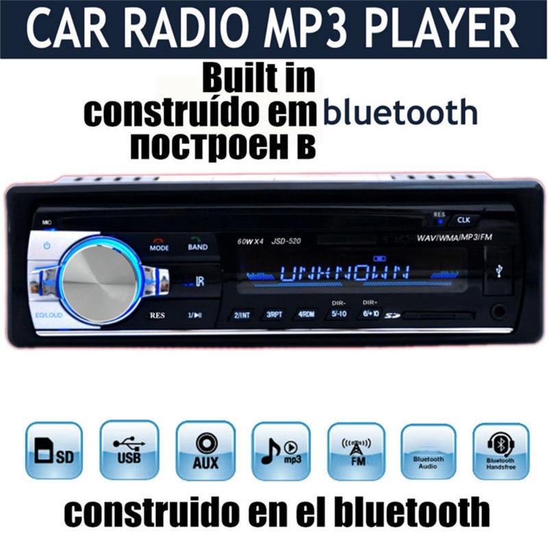 JSD520 Autoradio autoraadio 12V Bluetooth V2.0 autostereo - Autode Elektroonika - Foto 2