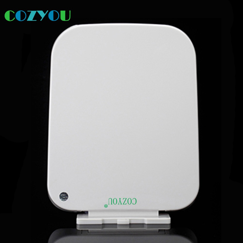 PP Toilet seat GBP17294PF White Square sofe Close slow close above installation length 418mm to 465mm,width 344mm to 364mm gbf17258sv urea formaldehyde material ultra thin high density toilet seat slow close v shaped installed above quick disassembly