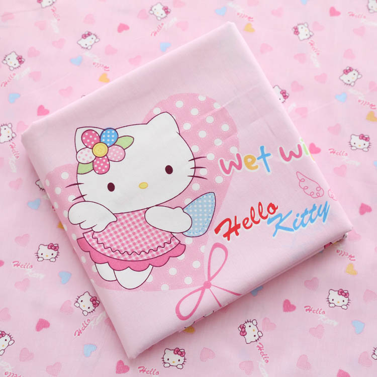 160cm 50cm cartoon cat pink cotton fabric sewing baby for Cotton fabric for children s clothes