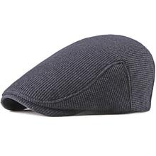 HT2197 Beret Caps Autumn Winter Hats for Men Women Solid Plain Flat Ivy Unisex Thick Newsboy Cabbie Driver Berets