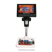 1000X Digital Electronic Microscope 4.3 inch HD LCD Display Portable Microscope 720P LED Digital Magnifier Repair Soldering Tool