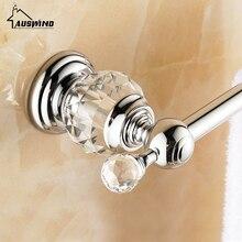 Античный Золотой держатель для полотенец со стразами и кристаллами/держатель для полотенец 60 см настенный золотой лак аксессуары для ванной комнаты