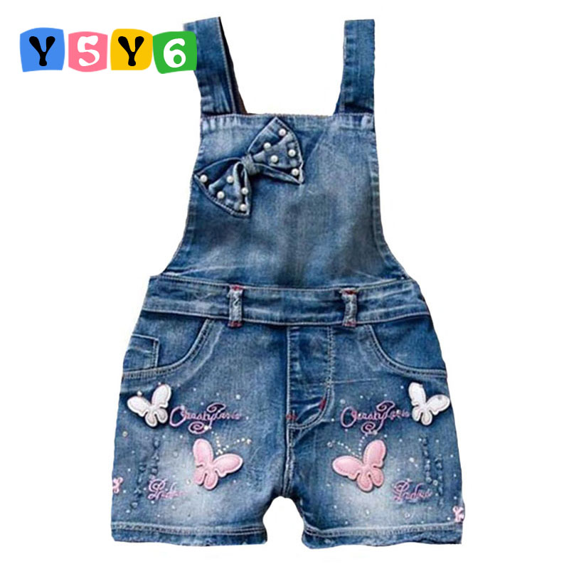 2018 SPRING Summer US Style Girl Jumpsuit Cute Sweet Fashion Jeans Washed Jeans Denim Romper Jumpsuits tali Seluar Pendek Cowboy Blue