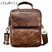 Itopkris HOT Sell Men S Genuine Leather Business Briefcase A Case For Documents Laptop High Quality