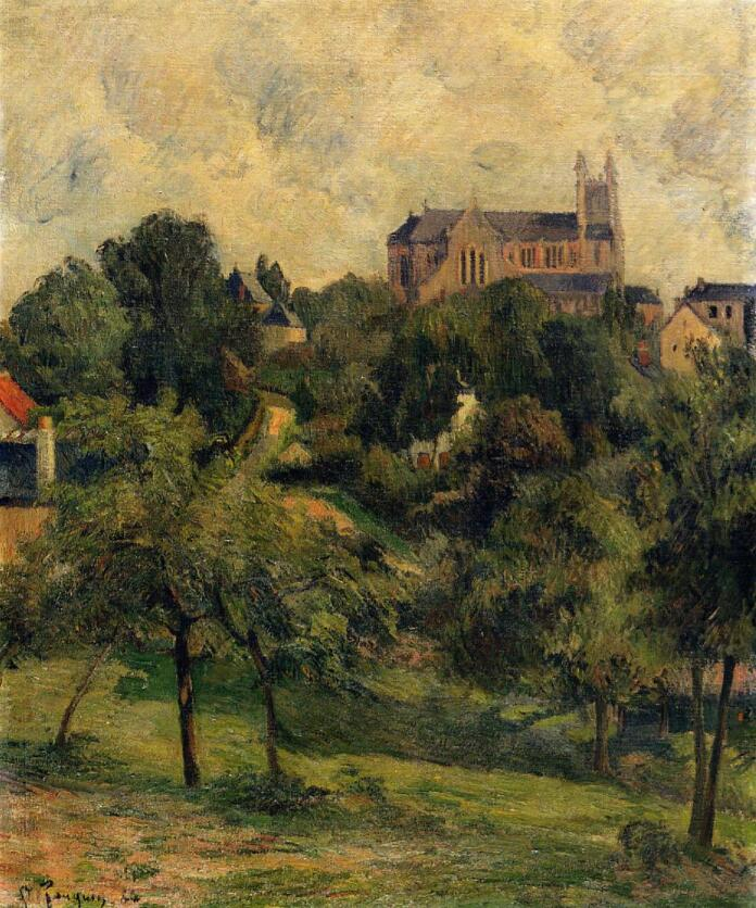 High quality Oil painting Canvas Reproductions Notre Dame des Agnes (1884) by Paul Gauguin hand painted