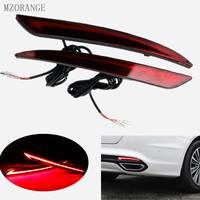 MZORANGE Taillight Red 3D Optic LED Rear Bumper Reflector Driving Tail Brake Turning Lights For Ford