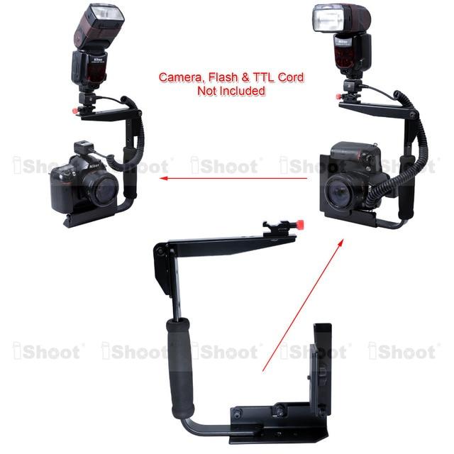 Multi Angle Foldable Metal Camera Holder Flash Bracket Mount For Nikon Canon 600EX 580EX 430EX II 550EX 540EZ 420EZ Speedlite