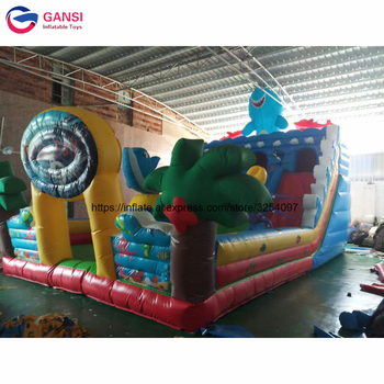 Amusement park commercial inflatable bouncy castle, giant inflatable castle jumping bouncer for kids free shipping free logo printing outdoor inflatable bouncer house inflatable bouncer castle jumping castle for kids play