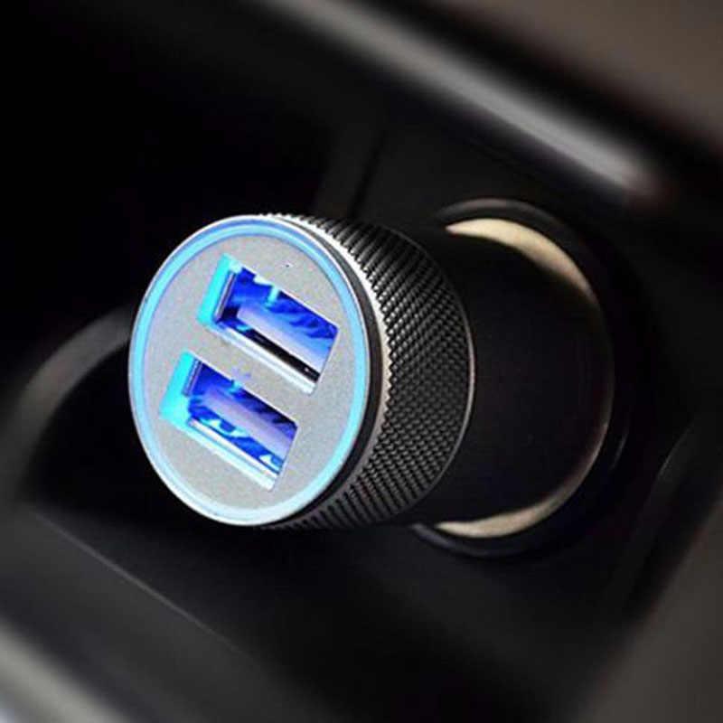 جديد البسيطة المزدوج USB التوأم ميناء 12 V العالمي في سيارة أخف شاحن مقبس قابس مهايئ ل iphone 6 6s زائد اكسسوارات السيارات
