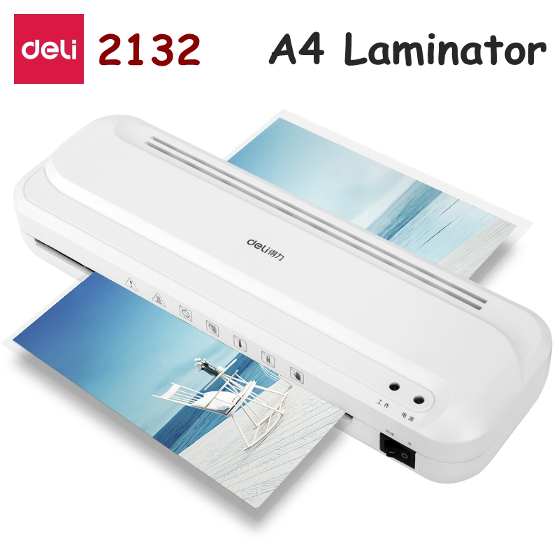 Deli 2132 Mini laminator A4 size Cold & Hot laminator max. photo width 210mm Automatic laminator 220-240VAC 50Hz