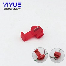 цена на 20Pcs Lock Wire Electrical Cable Connector Red Blue Insulated Quick Splice Terminals Crimp For Car Electrical Crimp Cable Snap